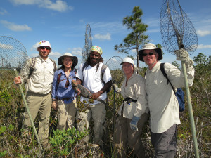 Group photo after a successful iguana capture on Andros Island. Photo by Chuck Knapp.