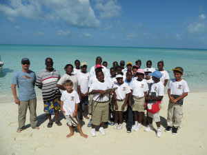 Students and teachers in the Exumas, Bahamas